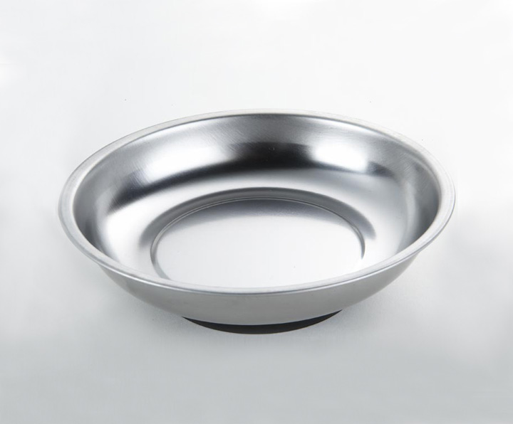 1341 Stainless Steel Round Magnetic Tray 150 Mm