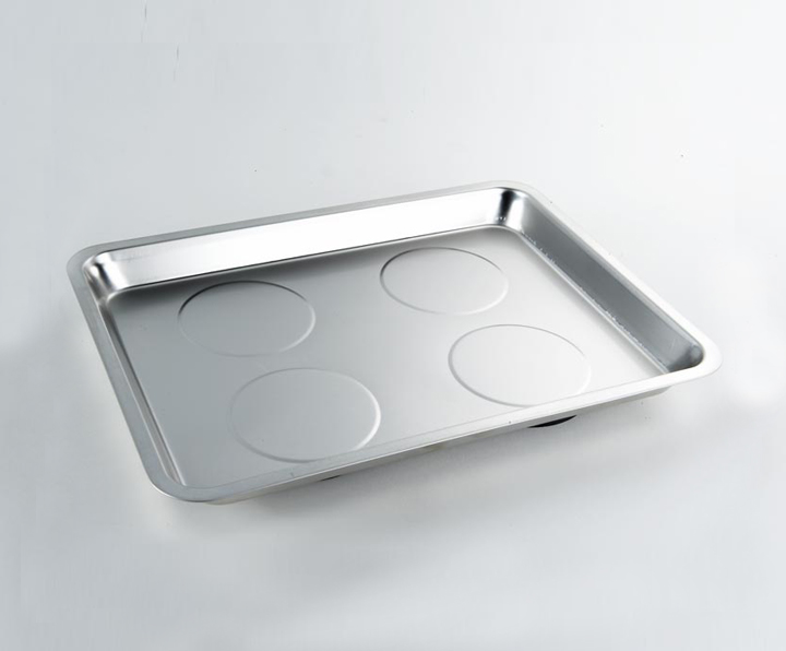 1344 Stainless Steel Square Magnetic Tray 294 x 273 mm